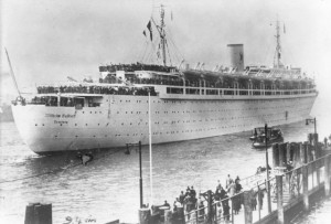 Wilhelm Gustloff on its voyage