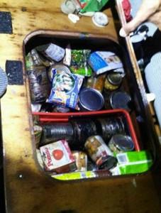 Food cans were found in Bajorat's yacht