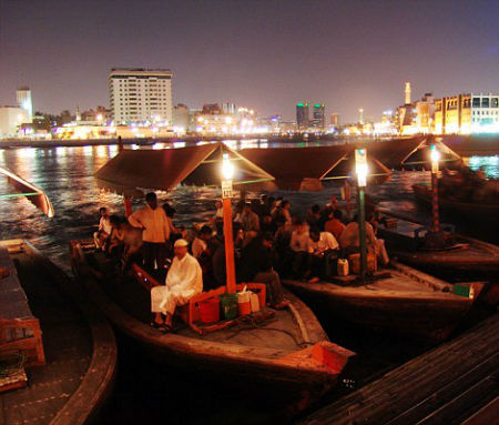 Dhows in modern Dubai