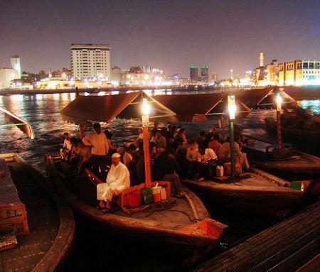 Dhows in modern Dubai