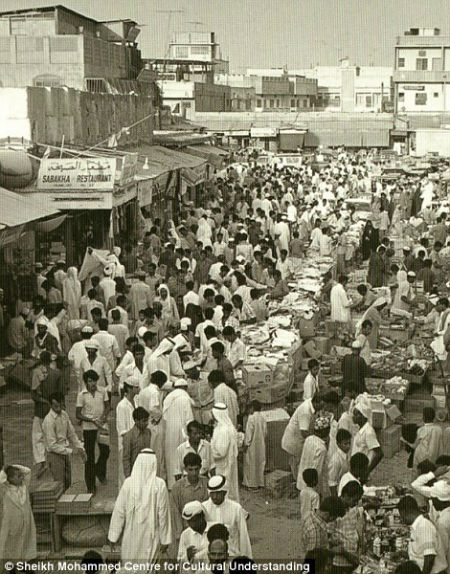A traditional market in Dubai