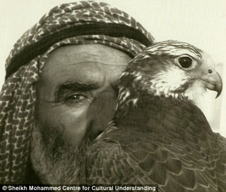 A man with his falcon