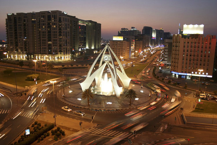 Present-day Clocktower roundabout