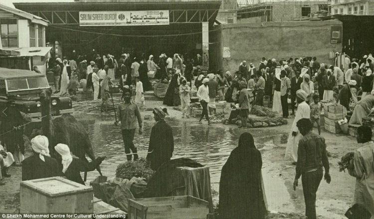 An open-market in downtown Dubai
