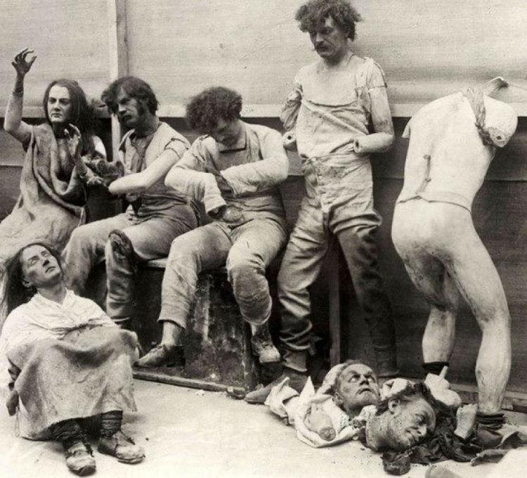 Melted and damaged mannequins