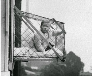 Baby cages were present in 1920s in America