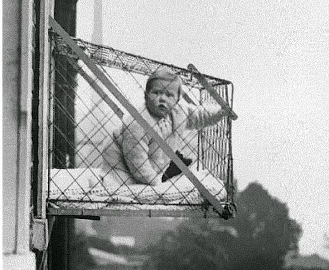 Facts about babies- Baby cages were present in 1920s in America