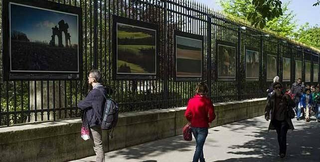 Michael St Maur Sheil photographs at display