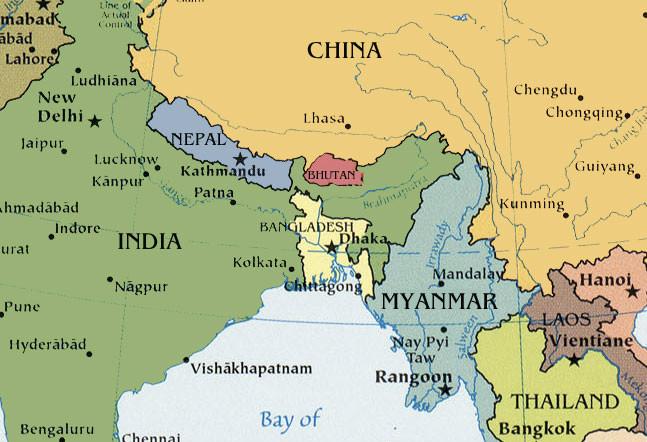 Bhutan on the map