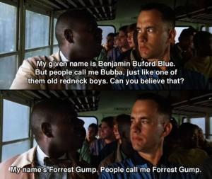 Forrest gump meet bubba