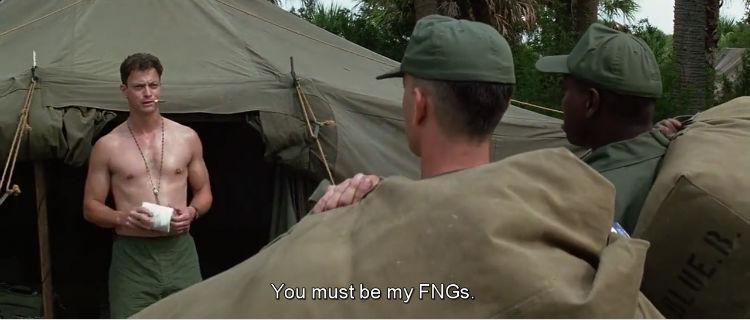 When Lt. Dan Taylor first meet Gump and Bubba