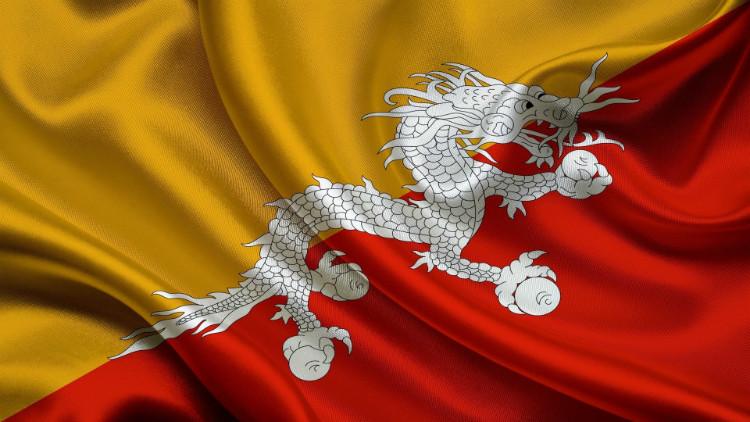 Bhutan's flag