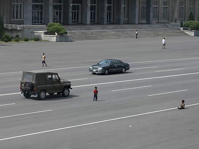 north korean street
