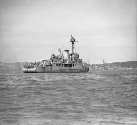 HMAS Abraham Crijnssen in Sydney Harbour 1942