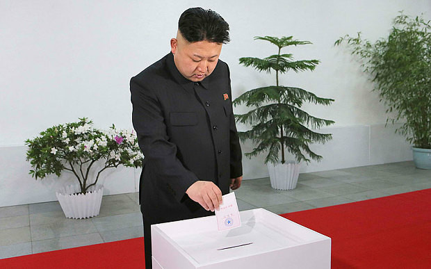 Kim Jong Un voting