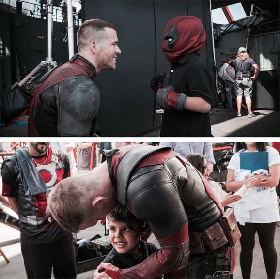 Ryan Reynolds with the Make-A-Wish foundation