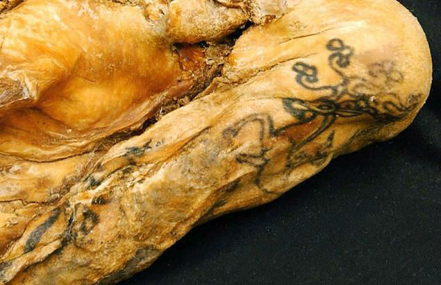 The Ukok Princess' tattoos