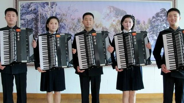 accordion north korea
