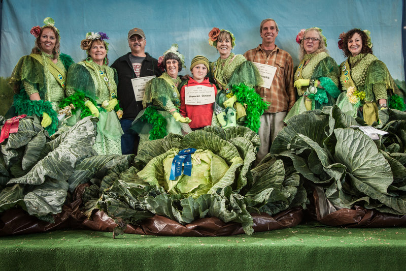 Giant Alaskan vegetables
