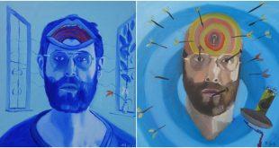 Bryan Charnley's Self Portrait Series