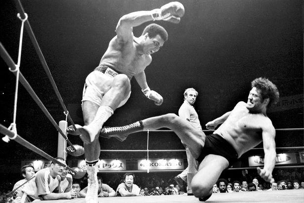 Image result for One of the first MMA fights was between Muhammad Ali and a Japanese pro wrestler.