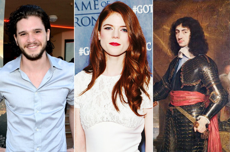 Kit Harington and Rose Leslie Descendants of Charles II