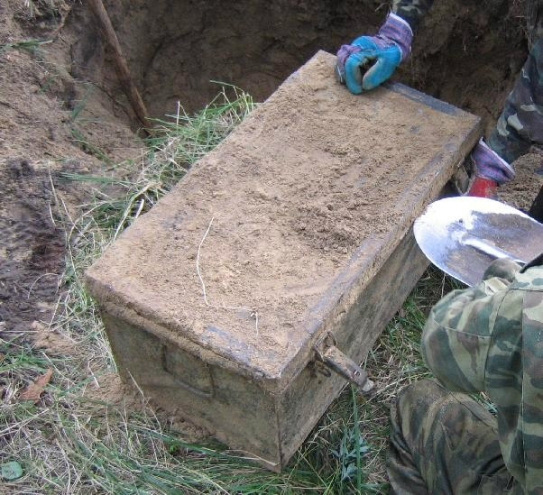 Unearthed Nazi Army Field Locker