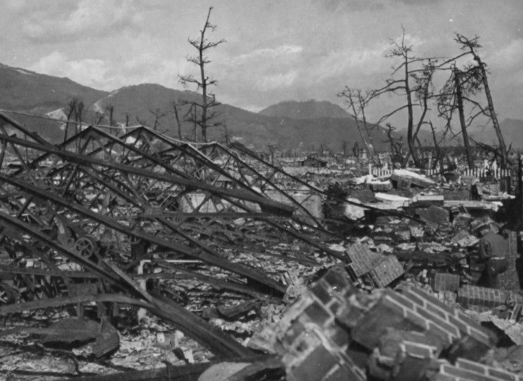 Destroyed Okita Iron Works in Hiroshima