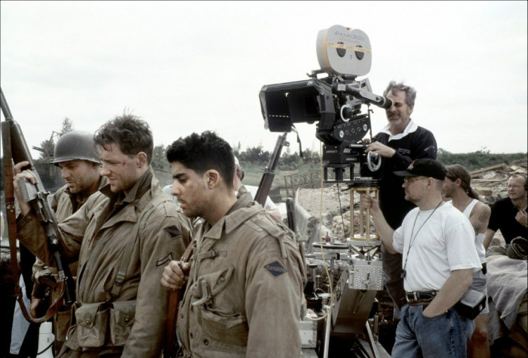 Saving Private Ryan - Steven Spielberg with Camera