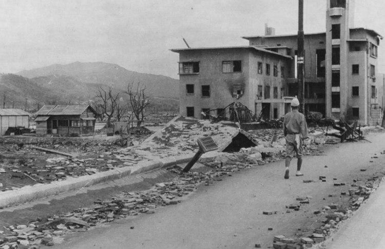 Extent of Destruction After Hiroshima Bombing