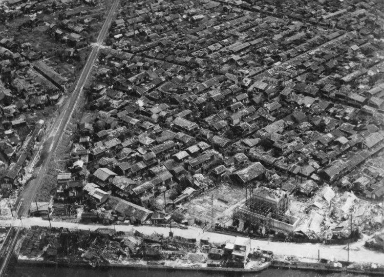 Homes of Hiroshima After Bombing