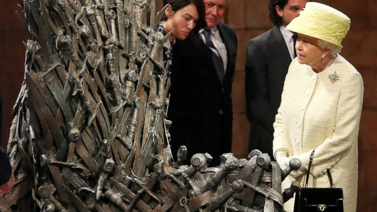 Queen Elizabeth and Iron Throne