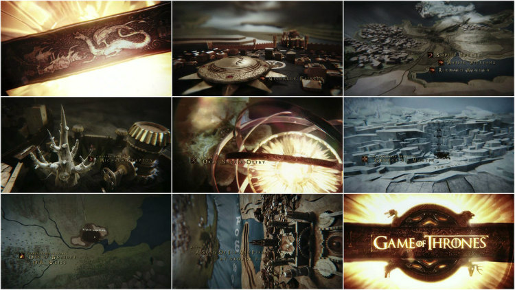 Opening Sequence of Game of Thrones