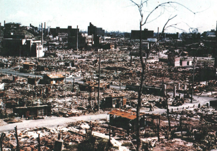 Destruction at the Center of Hiroshima