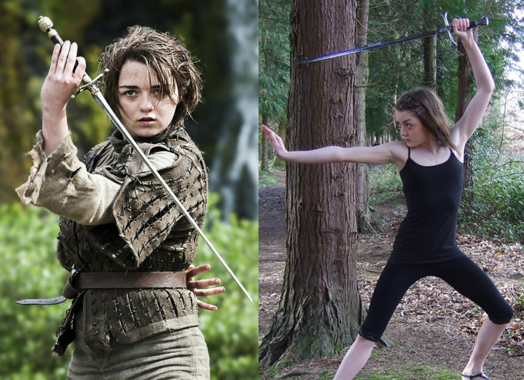 Maisie Williams' Portrayal of Left-Handed Arya