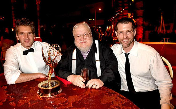 GRR Martin, David Benioff and Dan Weiss