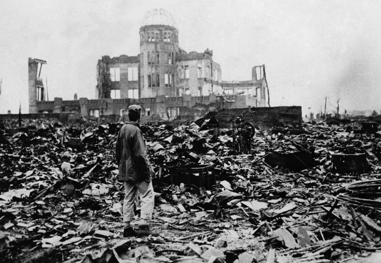 Genbaku/Atomic Bomb Dome After Bombing