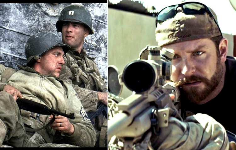Saving Private Ryan and American Sniper