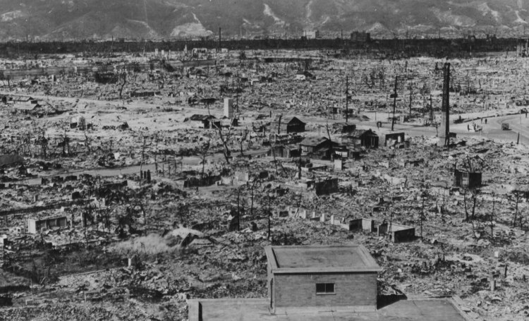 Destruction of Hiroshima Near Hypocenter