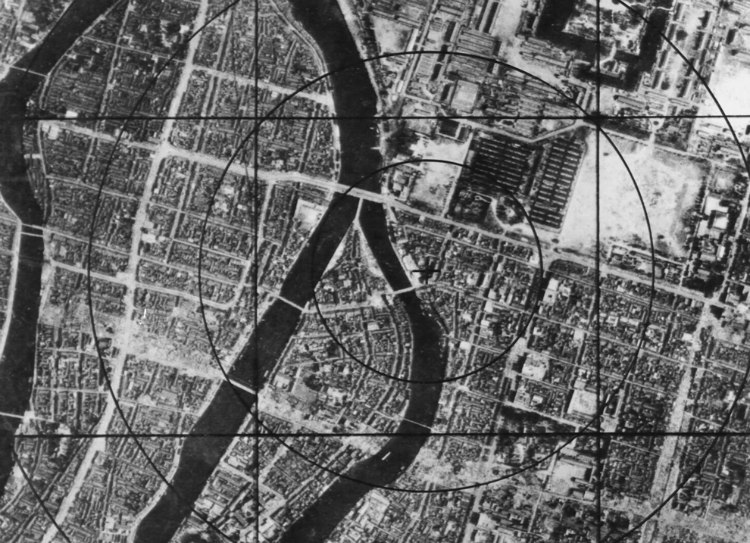 US Air Force Mapping of Hiroshima Hypocenter