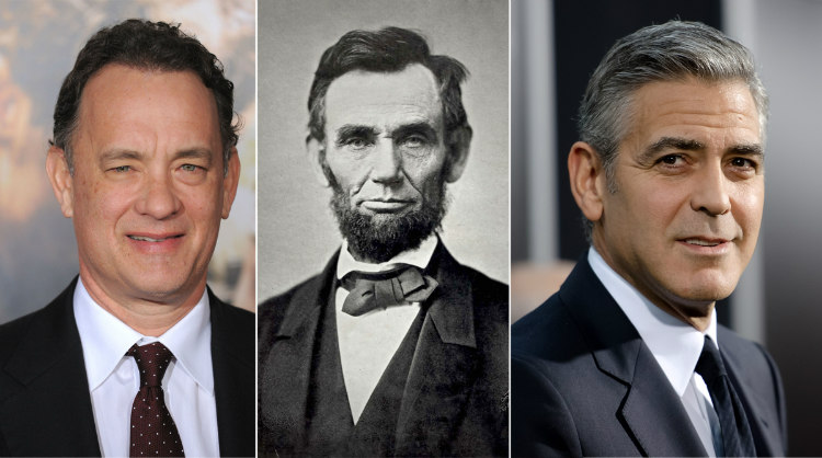 Tom Hanks, Abraham Lincoln and George Clooney