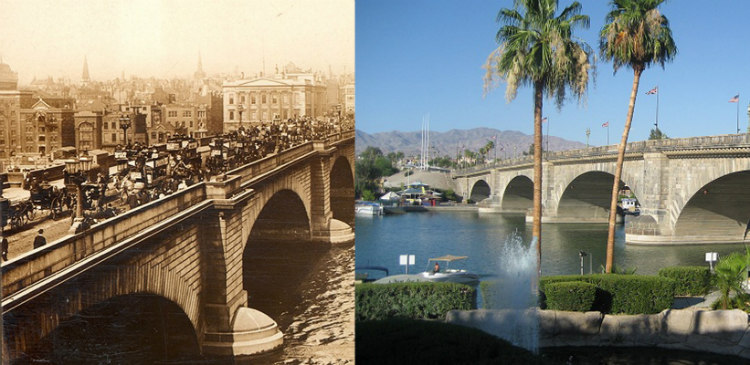 1831 London Bridge across Lake Havasu