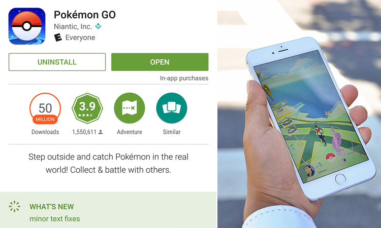 50 million downloads Pokemon Go
