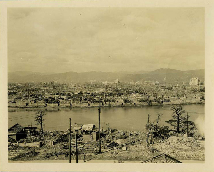 Destruction After Hiroshima Bombing