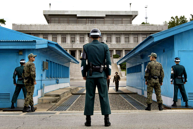 North Korea and South Korea Border