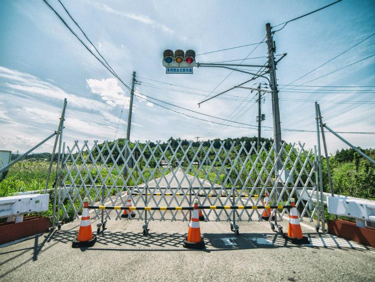 Blocked Road at Fukushima's Red Exclusion Zone
