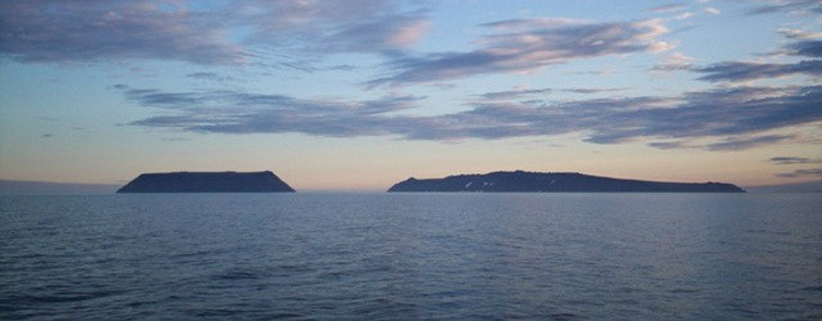 The Diomede Islands in Bering Strait