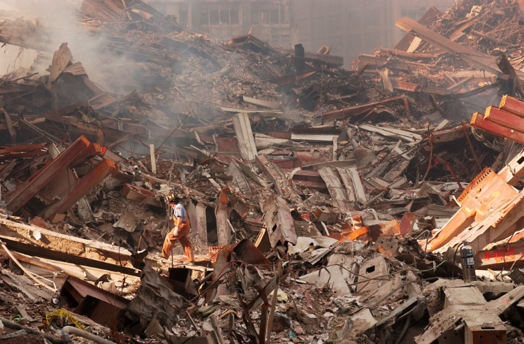 Debris After 9/11 Attacks