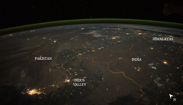 Indian-Pakistan Border by NASA