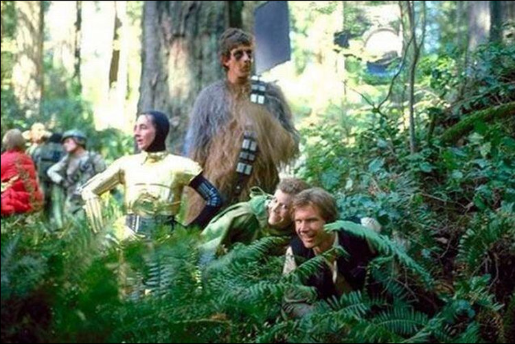 Chewbacca on Location for Star Wars